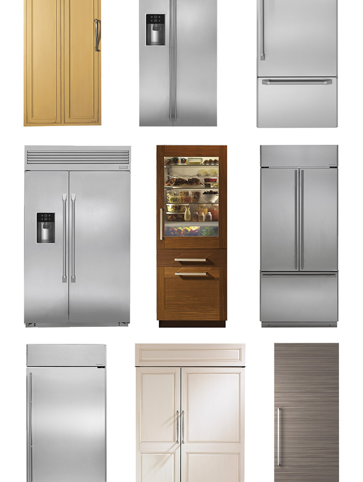 Built In Full Door Refrigerators Monogram Professional Kitchens