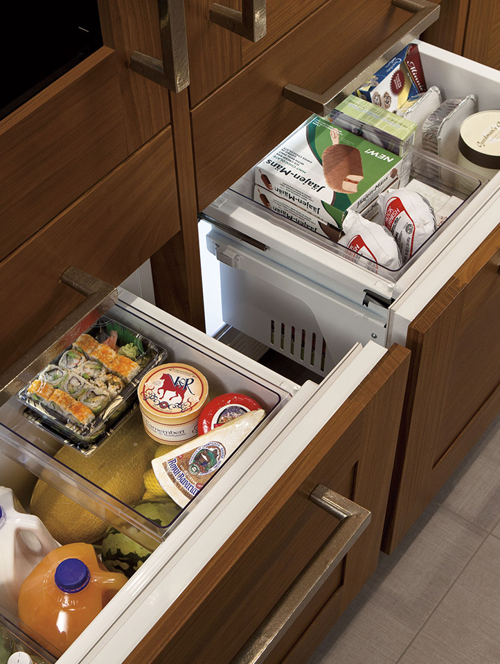 Lower Drawer Has Independent Temperature Controls And Can Be Used To Fresh Food Frozen Foods Wine Or Beverages Refrigerator Preservation