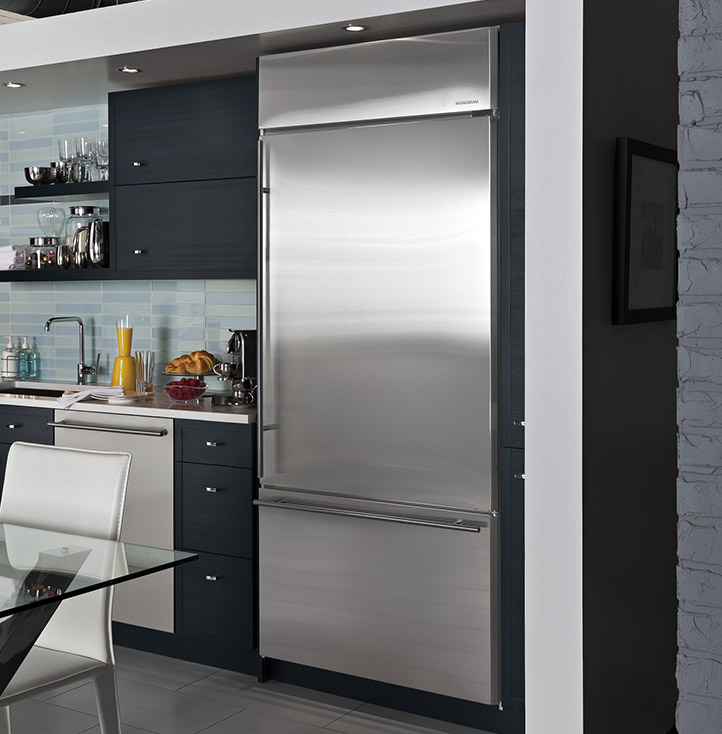 fridge cabinet design built in and free standing refrigerators monogram kitchens