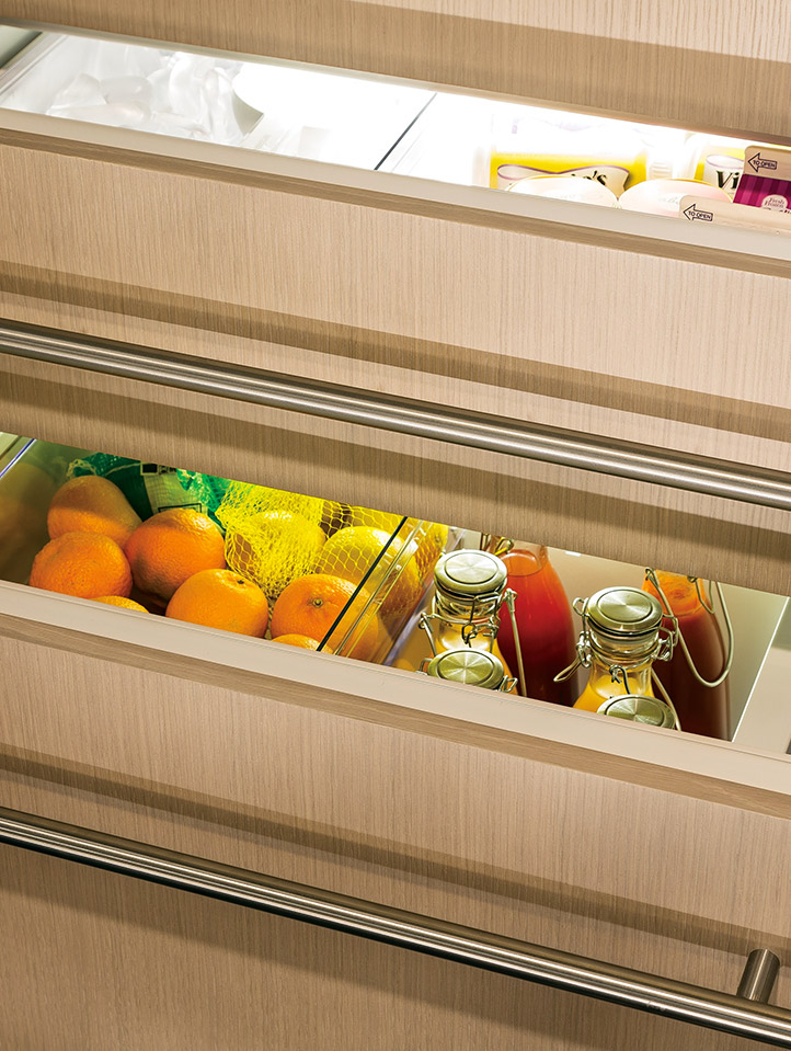Monogram refrigeration offers several innovative options for food preservation including climate-controlled drawers in side by side models and a ... & Built-In and Free Standing Refrigerators | Monogram Kitchens