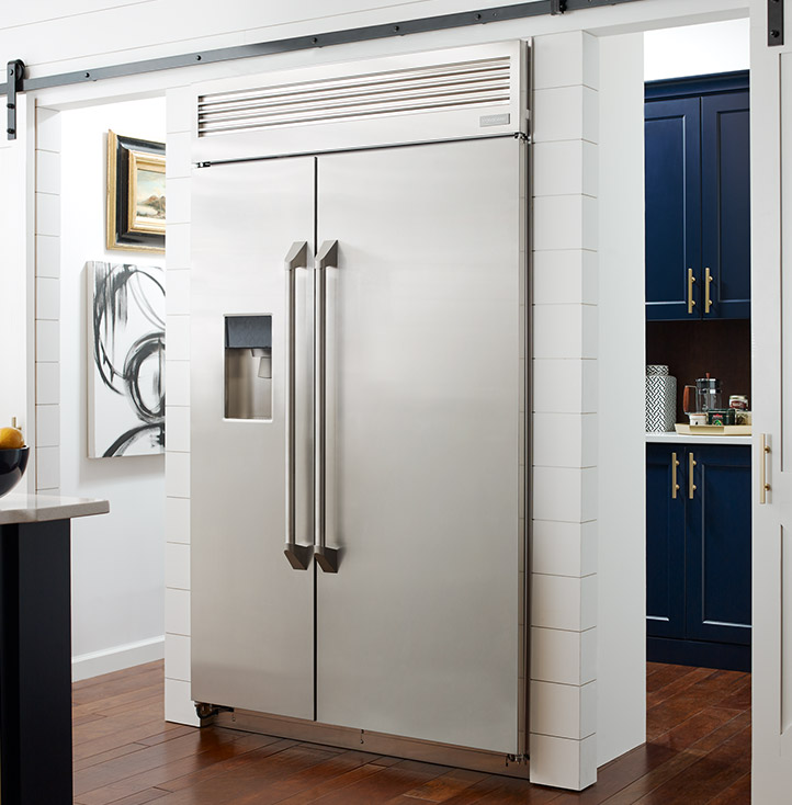 Built In And Free Standing Refrigerators Monogram Kitchens
