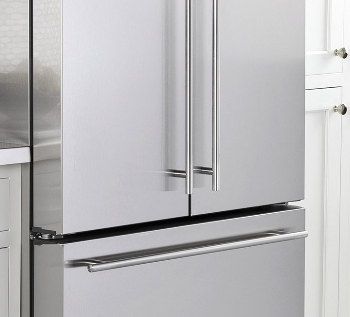 White Refrigerators With Stainless Handles